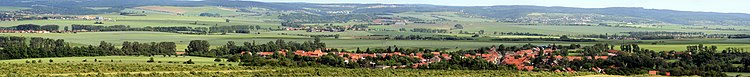 The battle field of Austerlitz as of today, with the village of Prace (Pratzen) in the foreground.