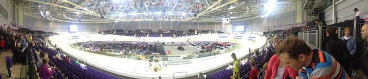 The Sir Chris Hoy Velodrome during the World Cup Cycling Event in November 2012