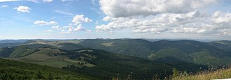 Storkenkopf - View over the central part of Vosges mountains from the Storkenkopf