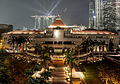 Parliament House, Singapore, at night - 20120926.jpg
