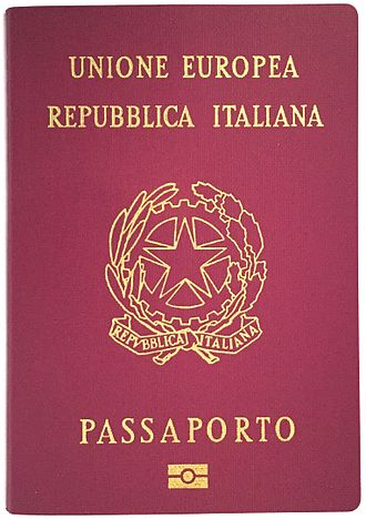Citizenship of the European Union - Italian passport
