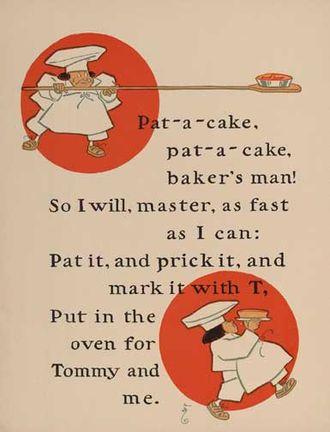 Pat-a-cake, pat-a-cake, baker's man - Image: Pat a cake, pat a cake, baker's man 1 WW Denslow Project Gutenberg etext 18546