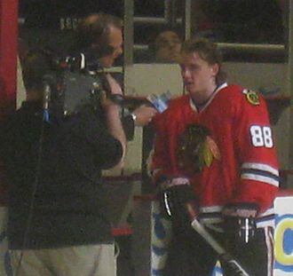 NBC Sports Chicago - Patrick Kane, of the Chicago Blackhawks, being interviewed by Comcast SportsNet Chicago