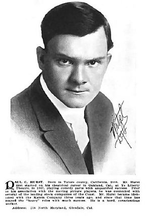 Paul Hurst (actor) - Paul Hurst  Who's Who in the Film World, 1914