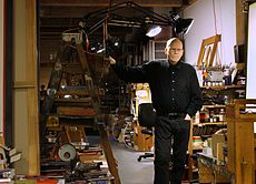 Paul Laffoley in his studio, January 2015.jpg