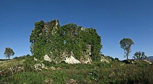Paz, Croatia - Ruins of Paz Castle in 2013.