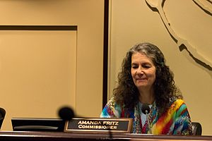 Amanda Fritz - Fritz at a meeting of the City Commission