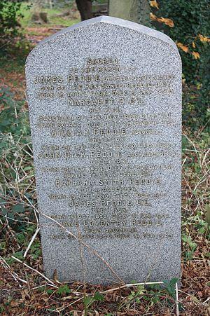 John Dick Peddie - Peddie family grave Warriston Cemetery