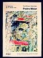 Pedro Meier – Kunsthaus Grenchen Solo-Ausstellung – »Flugbilder Atlantikflug Charles Lindbergh« – »Bilder der letzten 15 Jahre«, 1995. Ausstellungsplakat, Poster. Foto © Pedro Meier Multimedia Artist.jpg