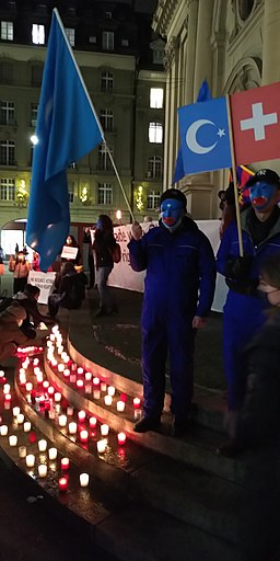People of Xinjiang protesting against the chinese government