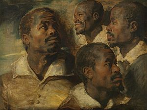 Study (art) - Peter Paul Rubens - Four Studies of a Head of a Moor