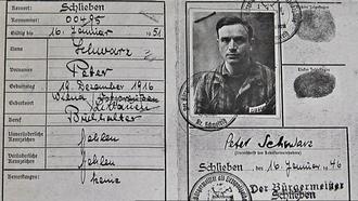 Farewell Herr Schwarz - Image: Peter Schwarz identity document