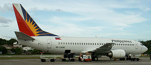 Photograph of Philippine Airlines 737-3Y0 at t...