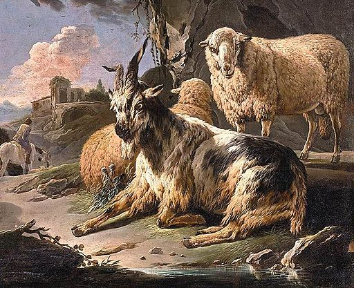 Philipp Peter Roos - Italianate Landscape with a Goat and Sheep - WGA20036