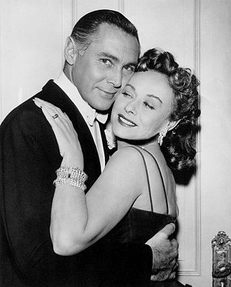 Paulette Goddard - With Phillip Reed in 1957