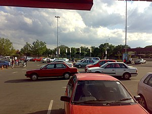 Germiston - Supermarket parking lot in Parkhill Gardens, Germiston