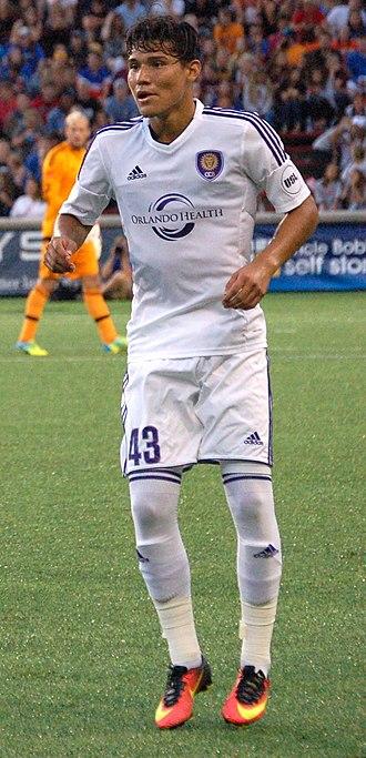Pierre da Silva - da Silva playing with Orlando City B in 2016