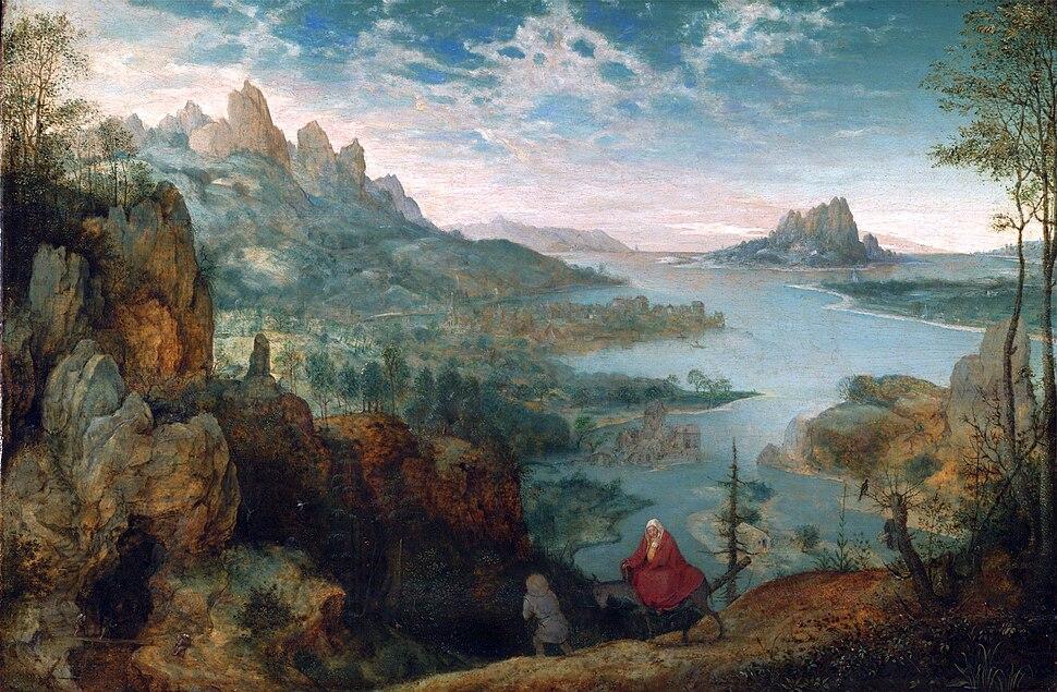 Pieter Bruegel der Ältere - Landschaft mit der Flucht nach Ägypten