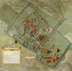 Pieter Pourbus - 1571 Plan for Ten Duin Abbey in Koksijde.jpg