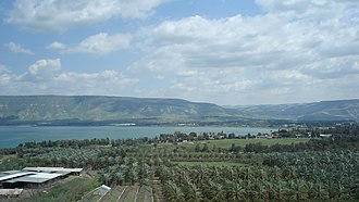 Tourism in Israel - An aerial view of the Sea of Galilee