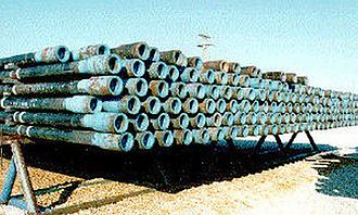 Drill pipe - Image: Pipe rack