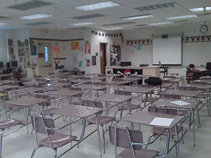 Classroom at Port Charlotte High School where ...