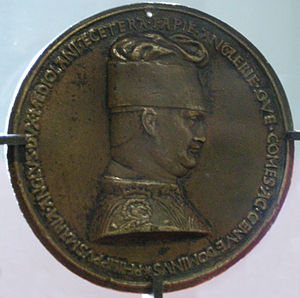 Filippo Maria Visconti - Filippo Maria Visconti, portrait medal by Pisanello