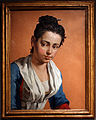 Pitocchetto, ritratto di una contadina, 66,4x46,5 cm, olio su vetro.JPG