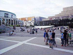Théâtre Maisonneuve - Théâtre Maisonneuve (right) alongside Salle Wilfrid-Pelletier