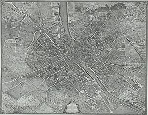 Turgot map of Paris - The Turgot map of Paris in its assembled form