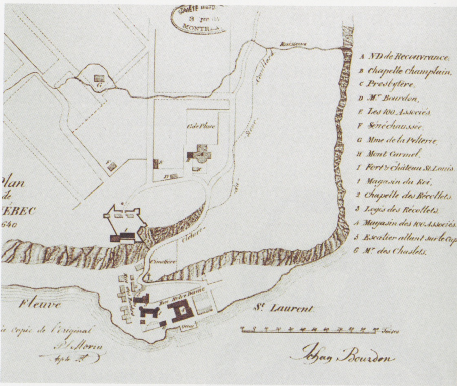 File:Plan Of Quebec City By Jean Bourdon, 1640.png