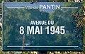 Plaque Avenue 8 Mai 1945 - Pantin (FR93) - 2021-04-27 - 1.jpg
