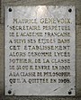 Plaque Maurice Genevoix college Bailly.JPG