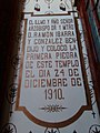 Plaque in Our Lady of the Carmen Church in Chiautempan, Tlaxcala.jpg