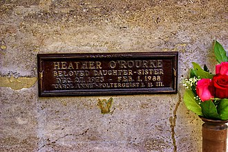 Heather O'Rourke - Plaque marking O'Rourke's interment