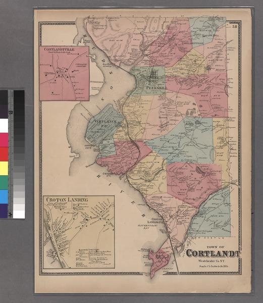 File:Plate 58- Town of Cortlandt, Westerchester Co. N.Y. - Cortlandtville - Croton Landing. NYPL1516841.tiff