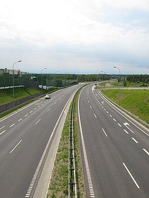 National road 8 (Poland) - Image: Podlaskie Wasilków Jurowce Węzeł Most DK8 v S