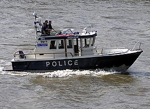 Tideway - A Fast Response Targa 31 boat of the Marine Support Unit of the Metropolitan Police
