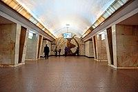 Politekhnichnyi instytut metro station Kiev 01.jpg