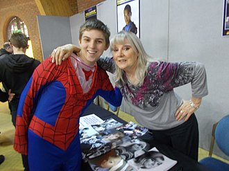 Anneke Wills - Anneke Wills with a young fan at Bournemouth Comic-Con in 2016.