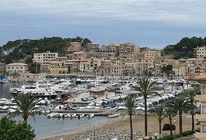 Port de Sóller, Majorca, Spain. The tram line ...