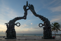 Portal Maya (El Cierre del Ciclo de la Cuenta Larga Maya) by José Arturo Tavares... in morning twilight - Playa del Carmen, Mexico - August 15, 2014 01.png