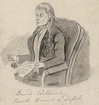 Iolo Morganwg - Image: Portrait of Edward Williams, bardd braint a defod (4672175)
