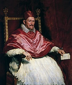 Portrait of Pope Innocent X (by Diego Velázquez) - Doria Pamphilj Gallery, Rome.jpg