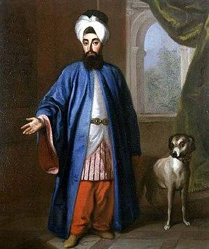 Yirmisekizzade Mehmed Said Pasha - Mehmed Said in Stockholm as ambassador in 1733, by Georg Engelhard Schröder.
