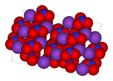 The crystal structure of KNO3