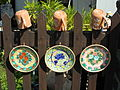 Pottery house complex. Wooden fence. Ceramics. Floral. - 28-30 Batthyány Street, Tihany.JPG