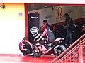 Pramac d'Antin Ducati garage 2006 Mugello.jpg