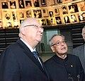 Pranab Mukherjee with Reuven Rivlin in Yad Vashem (2).jpg