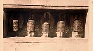 Prayer wheels Boudnath, 1974